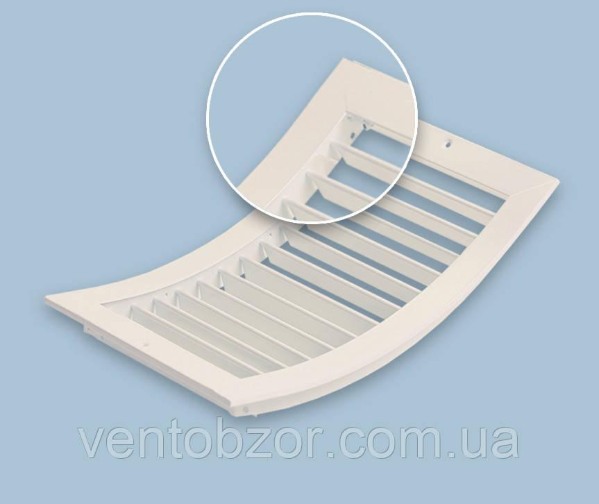 Решетка вентиляционная алюминиевая однорядная изогнутая инверсно регулируемая РОИиР3