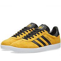 Оригинальные  кроссовки Adidas Gazelle Collegiate Gold & Black