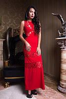 Длинное вечернее платье без рукавов 3 цвета