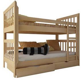 """Двухъярусная кровать """"Зарина"""" с ящиками (массив бука)"""
