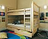 """Двухъярусная кровать """"Зарина"""" с ящиками (массив бука), фото 9"""