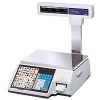 Весы торговые CAS CL5000J-15IP до 15 кг, с печатью этикеток (со стойкой)