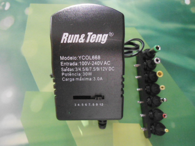 Сетевой адаптер зарядное 12V 3A  7 в 1