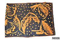 Кашемировый палантин Жар-птица оранжевый