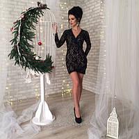 Вечернее женское кружевное платье Блэк
