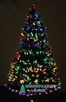 Искусственная елка, оптоволоконная 120 см, с верхушкой звезда