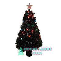 Искусственная елка, оптоволоконная 60 см, с верхушкой звезда