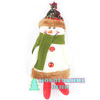 Новогодняя подвесная игрушка Снеговика 19х9 см.