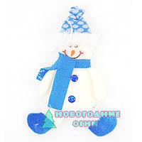 Новогодняя подвесная игрушка Снеговик 19х9 см.