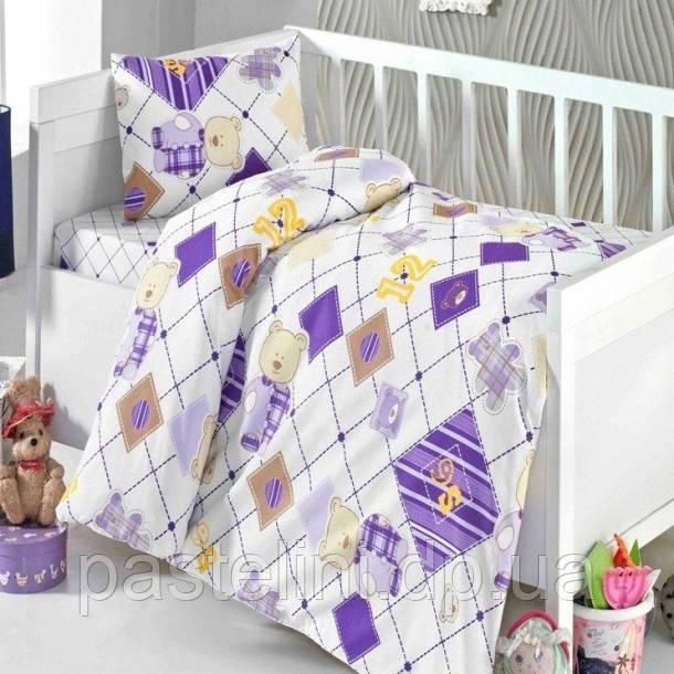 Постельное белье для новорожденных Brielle 500 purple