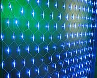 Сетка светодиодная LED Синяя 1.5х1.5м, 120 лампочек, фото 1