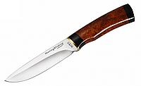 Нож охотничий 2281 BWP, чехол натуральная кожа, рукоять кап бере, ножи охотничьи, для охоты, амуниция охотника