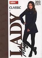 Колготки женские модал Lady May MODAL 350 Den, чёрные, 3 размер (48-50)