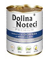Dolina Noteci PREMIUM Консервы для собак с треской и брокколи 0,8 kg