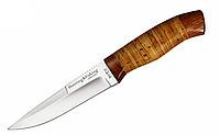 Ніж мисливський 2255 BLP, чохол натуральна шкіра, рукоять береста, ножі мисливські, для полювання, амуніція мисливця, фото 1