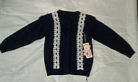 Кофта детская для девочки 1-5 года,темно синяя, фото 1
