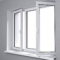 Окно металлопластиковое Rehau'60 2150*1380 3-секционное с открываниями по бокам