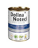 Dolina Noteci PREMIUM Консервы для собак с треской и брокколи 0,4 kg