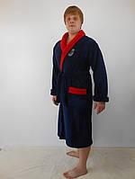 Мужской махровый халат с шалевым воротником Леонид (размеры 48-54)