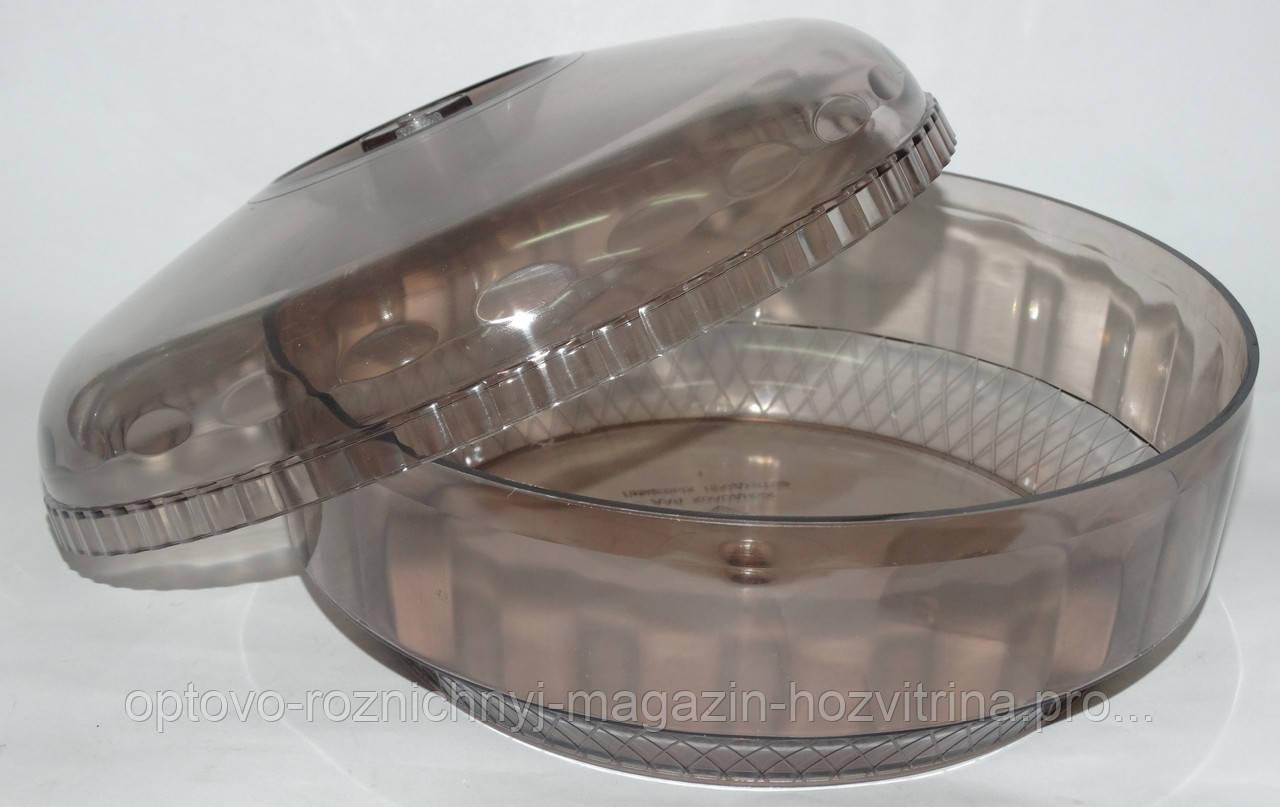 Хлебница пластмассовая круглая