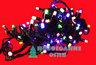Наружная светодиодная гирлянда Стринг Лайт (String-Light) 10 LED 10 м., мульти