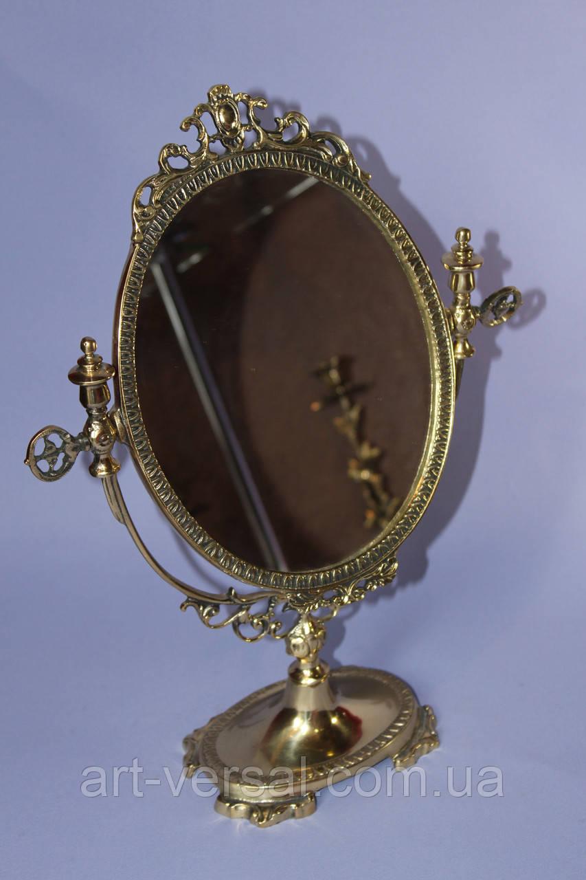 """Косметическое зеркало """"Овальное (с)"""" из бронзы"""