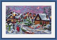 Мережка Різдвяна ніч Набор для вышивки крестом К-71