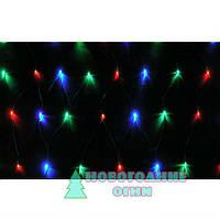 Гирлянда сетка Net Light LED 120 светодиодов 1.45*1.35 м., мульти