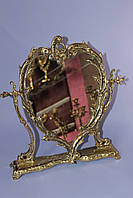 "Зеркало ""Сердце"" из бронзы"