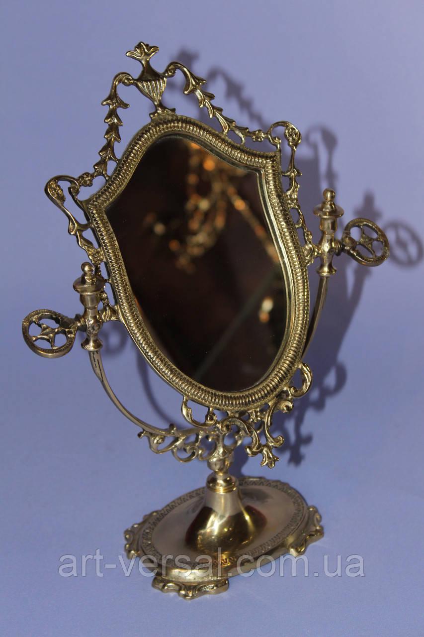 "Зеркало на ножке ""Ажур (м)"" из бронзы"