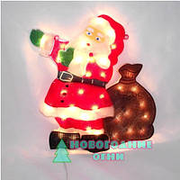 Електро-гирлянда Панно Дед мороз - 30 ламп