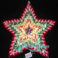 Электро-гирлянда Звезда панно пятиугольная - 140 ламп