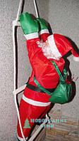 Дед мороз с мешком,  на лестнице, водонепроницаемый - 60 см., уличный
