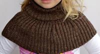 """Детский шарф-манишка """"Капелька"""" ТМ Arctic (коричневый)"""