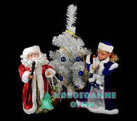 Набор музыкальные фигурки под ёлку Дед Мороз и Снегурочка - 40 см., фото 1