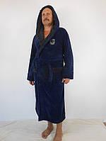 Мужской махровый халат с капюшоном Егор (размеры 48-52)