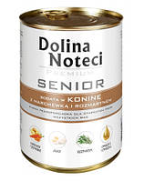 DOLINA NOTECI Premium Senior Консервы для пожелих собак с кониной, морковкой и розмарином 0,4 kg