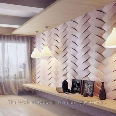 Гипсовые 3D панели для стен Переплет 500х500