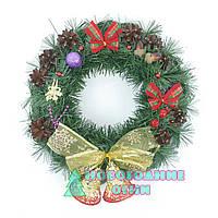 Рождественский венок из хвои, D-30 см.
