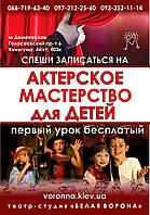 """Театральная студия """"Белая ворона"""""""