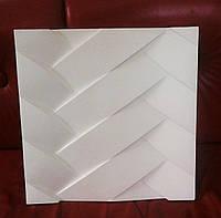 """Гипсовые  стеновые 3D панели """"Переплет"""" 500х500"""