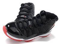 Баскетбольные кроссовки Nike Air Jordan XI 11 Retro Black Red, фото 1