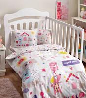 TAC Постельное белье для новорожденных  Happy Dog pink baby