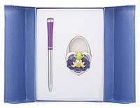 Подарочный набор ручка и держатель для сумки Лиций фиолетовый
