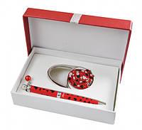 Подарочный набор ручка и держатель для сумки Нефтис красный