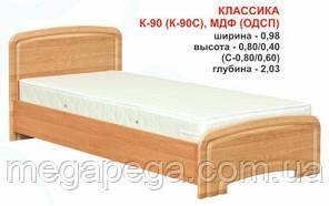 """Кровать """"Классика К-90 МДФ (ОДСП)"""""""