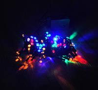 Гирлянда светодиодная 100 LED мульти черный провод 8 метров