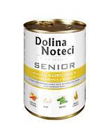 DOLINA NOTECI Premium Senior Консервы для собак с курицей, морковкой и базиликом 0,4 kg