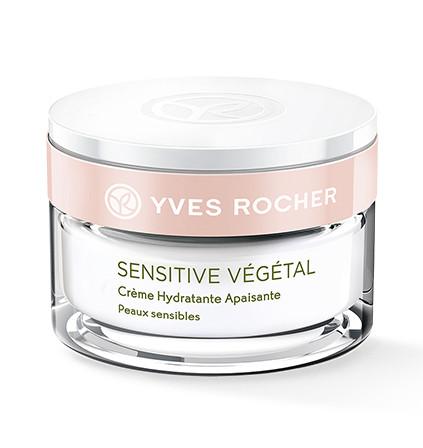 Ив Роше Дневной Увлажняющий Успокаивающий Крем Sensitive Vegetal 50мл скидка -55%