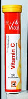 Fit+Vital Vitamin C 20 Brause-tabletten Zitronen    20шт